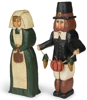 Pilgrim Sculptures Set