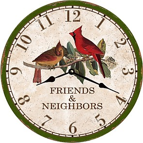 Friends & Neighbors Clock