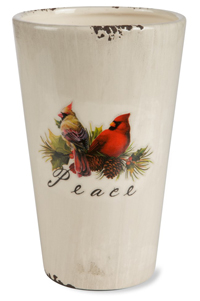 Cardinal Ceramic Bird Planter