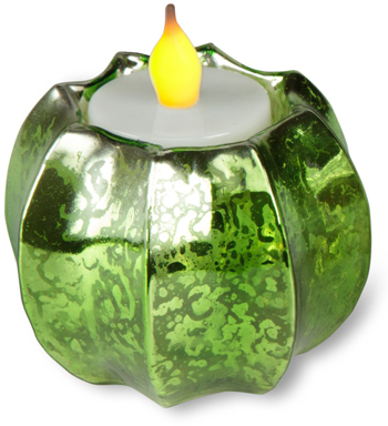 Green Mercury Glass Tealight Holder