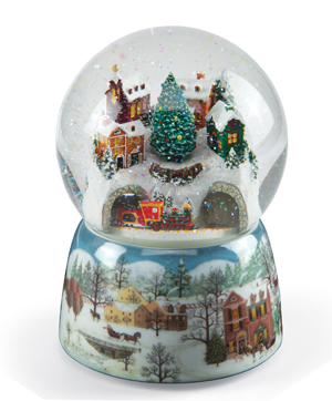 Holiday Train Musical Snow Globe