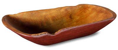 Red Notched Rustic Trug