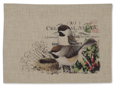 Winter Garden Chickadee Placemat