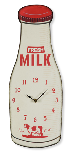 Milk Bottle Clock