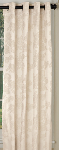 Hydrangea Grommet Curtain Panel