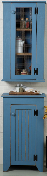 Jelly Hutch Cabinet Set in Blue
