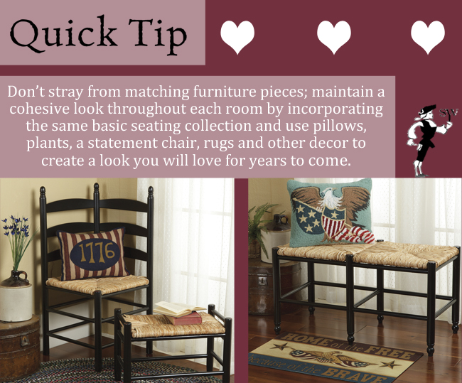 Quick Tip: Matching Furniture, A Love Story