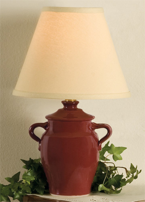 Country Classic Lamp in Paprika