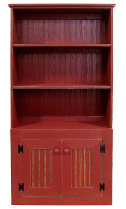3' Pine Hutch in Red