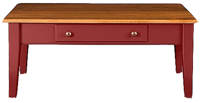 Country Shaker Coffee Table in Cranberry