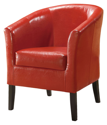 Simon Upholstered Accent Chair in Red