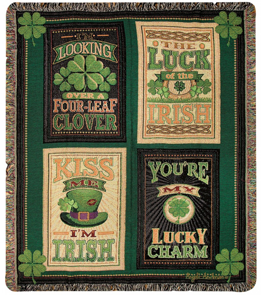 Irish Shamrock Throw