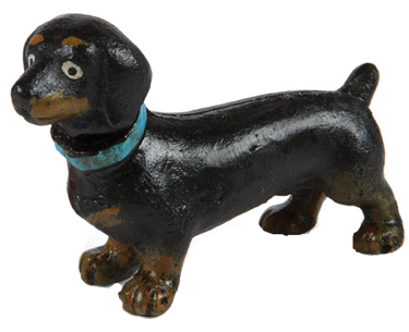 Iron Dachshund Sculpture
