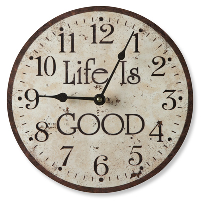 Life is Good Clock (in Tan)