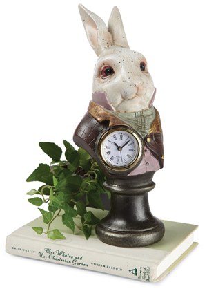 White Rabbit Pedestal Clock
