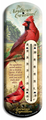 Northern Cardinal Indoor/Outdoor Thermometer