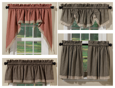 Crochet Check Curtain Collection