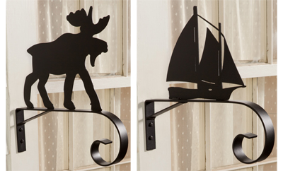 Moose and Sailboat Brackets