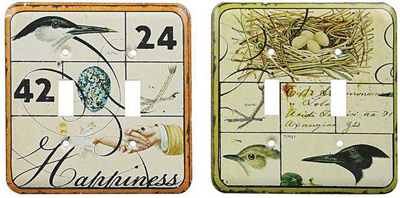Avian Double Switch Plate Set