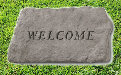 Welcome Engraved Stone