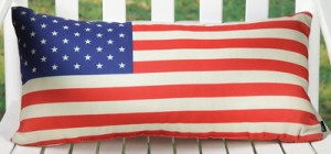 American Flag Indoor/Outdoor Pillow