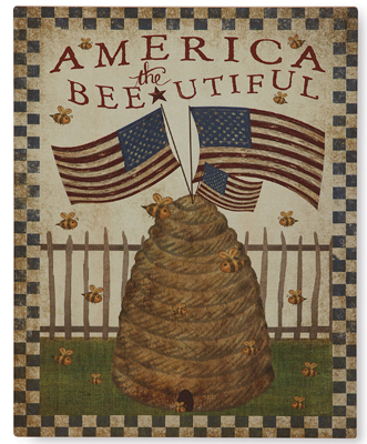 America The Bee-utiful Print