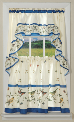Bird and Butterfly Garden Curtain Set