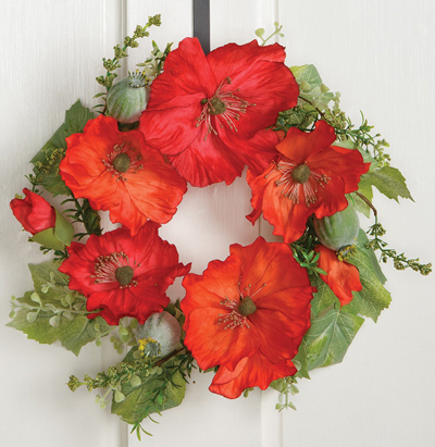 Blooming Poppies Mini Wreath