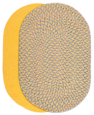 Bold Braided Rugs - Daffodil and Daffodil Multi