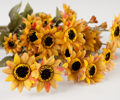 Faux Mini Sunflowers