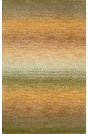 Ombre Stripes Wool Rug - Sage