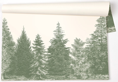 Evergreen Trees Paper Placemat Pads