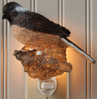 Chickadee Bird Night Light