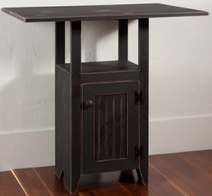 Cupboard Table in Black