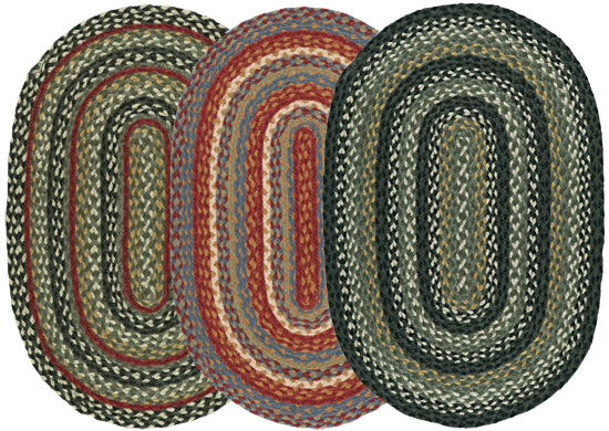 Dawson Oval Jute Braided Rugs
