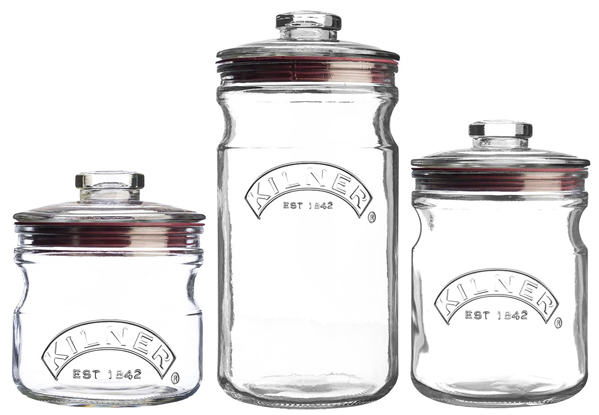 Push Top Glass Storage Jars