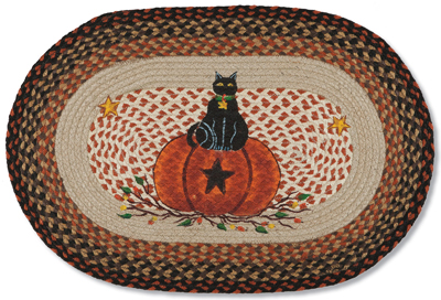 Bittersweet Black Cat Rug