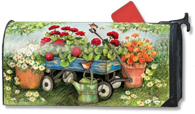 Geraniums by The Dozen Mailbox Cover