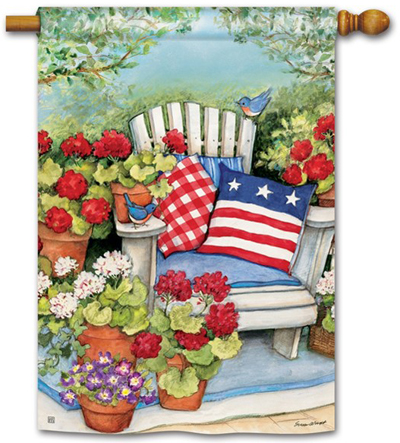 Patriotic Pillows Decorative House Flag