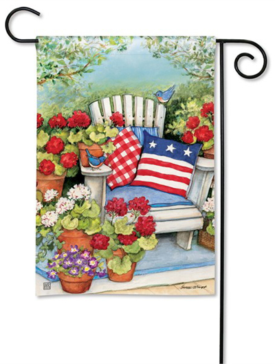 Patriotic Pillow Garden Flag