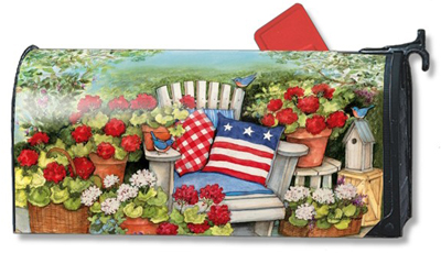 Patriotic Pillows Mailbox Cover
