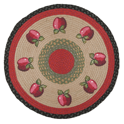 Shiny Apple Round Jute Rug