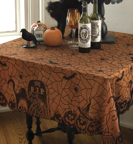 Halloween Lace Table Topper
