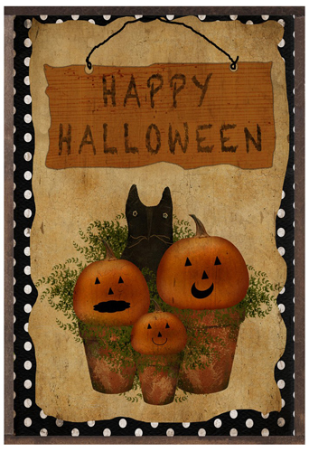Happy Halloween Polka Dot Print