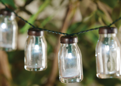 Milk Bottle String Lights