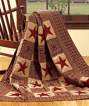 Vintage Star Quilt Throw