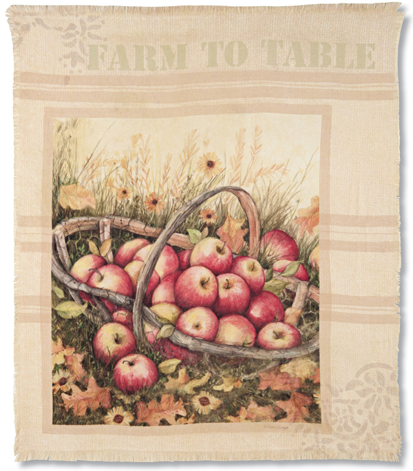 Apple Harvest Basket Throw Blanket