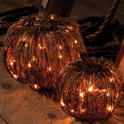Grapevine Pumpkin Light
