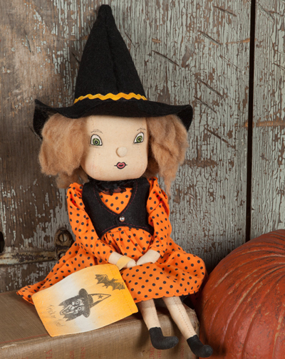 Felicity Witch Girl Halloween Soft Sculpture