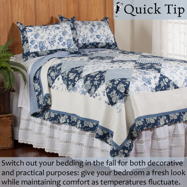 Quick Tip: Fresh Bedding for Fall